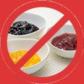 素材の糖度若しくは食塩濃度の高い商材